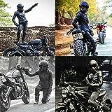 KKmoon Moto Maschera Staccabili Occhiali e Bocca Filtro per Aperto Casco Motocross Sci Snowboard, Nero con Lente Trasparente