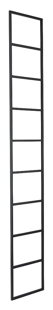 アサーベリ哀ウッドワン 棚柱用カナモノ カベツケ ブラック [高さ1886mm] MKATK18-1-K