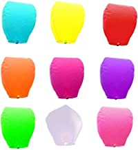 GT Sky Lantern Hot Air Balloon Multicolor for Christmas Festivals Year or Special Occasions (Pack of 50)