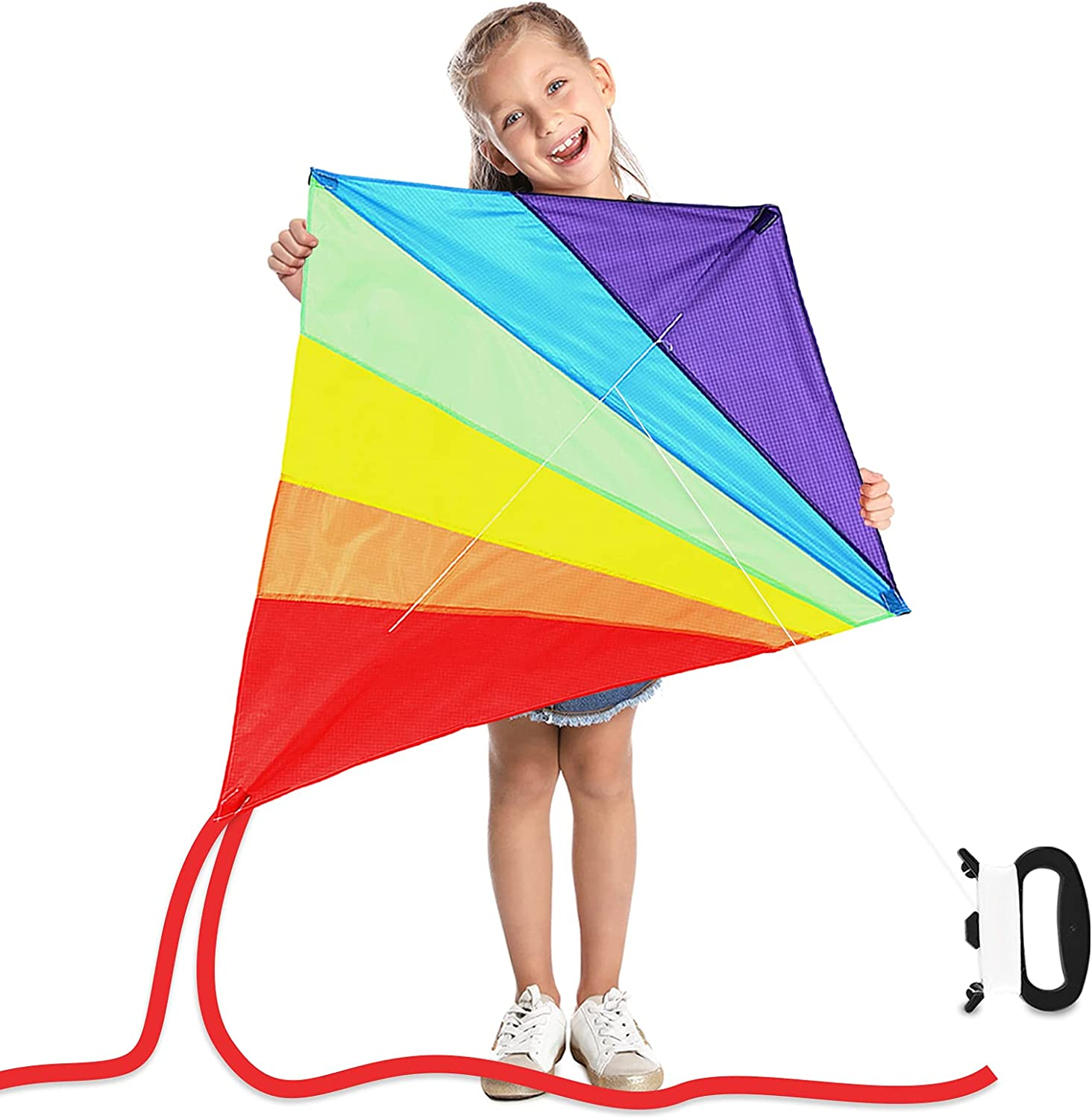 Rainbow Kite Single Line Easy Flyer Kids Ranking integrated 1st place Diamond for shipfree