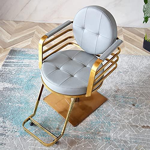Silla de peluquero Silla de salón hidráulica Equipo de salón de belleza Taburete de salón de elevación dedicado, giratorio de 360 ° con base cuadrada y reposapiés