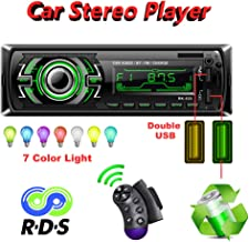 Honboom Car Stereo with Bluetooth | Car Radio with Bluetooth |1 Din Car Stereo with Hands-Free Receiver | Car MP3 Player with Steering Wheel Control | Supports RDS/AUX/USB/SD