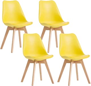ad2bf52e40627 Amazon.com: Yellow - Wood / Chairs / Kitchen & Dining Room Furniture ...