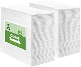 [200 Pack] Linen-Feel Guest Towels - Disposable Cloth Dinner Napkins, Bathroom Paper Hand Towels, Wedding Party Napkins