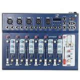 ammoon 7 Canales Línea Mic Digital Audio Sonido Consola de Mezcla del Mezclador con Entrada USB 48V...