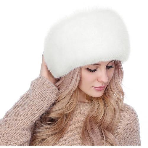 baacf020994 Lovful Winter Women Faux Fur Russian Cossack Style Hat Winter Wrap Hat