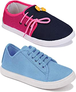 Axter Women Multicolour Latest Collection Sneakers Shoes- Pack of 2 (Combo-(2)-11028-5002)