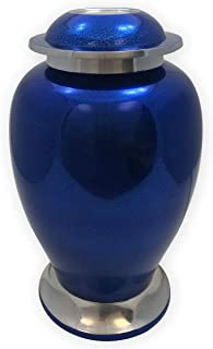 Beautiful Life Urns Blue Sapphire Adult Cremation Urn Distinct Funeral Urn with a Stunning Deep Blue Finish (Large)