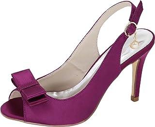 Vimedea Womens Peep Toe Slip On Dress Pumps Ankle Straps Wedding Prom Slingback 5623-18B