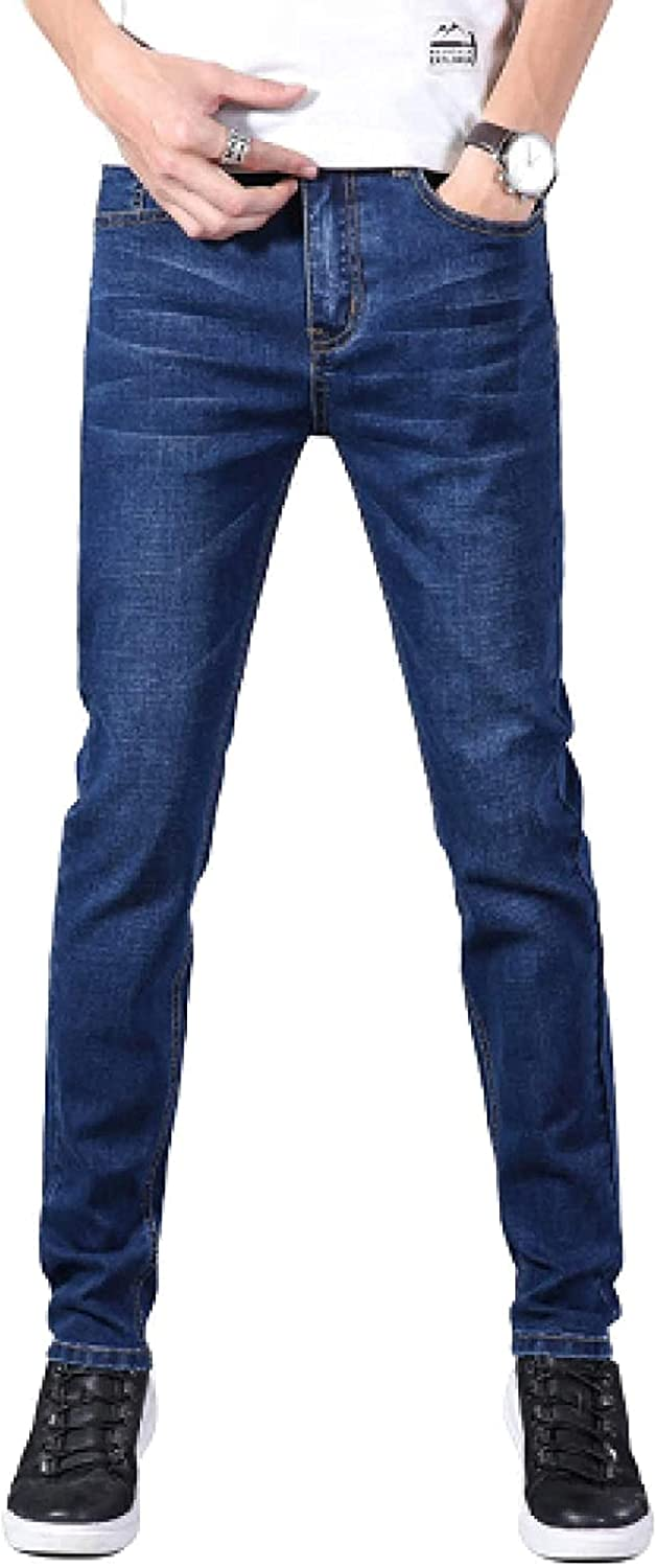 Cicuny Men's Sale special price Jeans sale Thin Stretch Pants Washe Pencil Skinny Indigo
