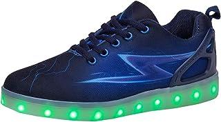 313fa3107e8e1 yunhou Homme Femme Chaussure LED - Lumineux Sports 7 Couleur USB Charge  Chaussures à Lacets Lumiere