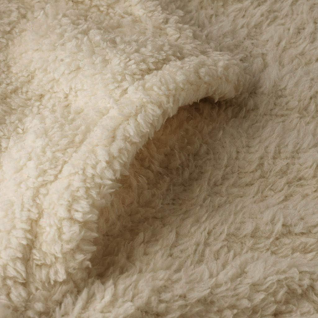 KPPONG Damen Kapuzenpullover Lang Hoodie, Pullover Teddy-Fleece Winter Kapuzenpullover Sweatshirt Hooded Warm Plüsch Pulli Pulloverkleid B-khaki