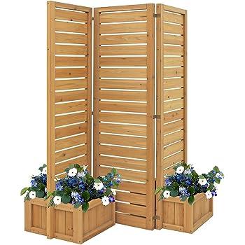 Yardistry YM11703 Fusion Planter Cedar Privacy Screen, Brown