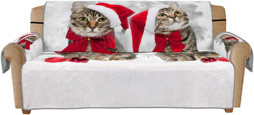 Jiyaru Couch Cover Christmas Claus Slipcov Max 67% OFF Santa Popular product Sofa