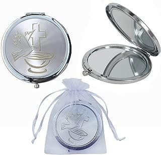 12 Pcs Baptism Compact Mirror Favor -Bautizo Recuerdos / Holy Spirit Makeup Compact / First Communion