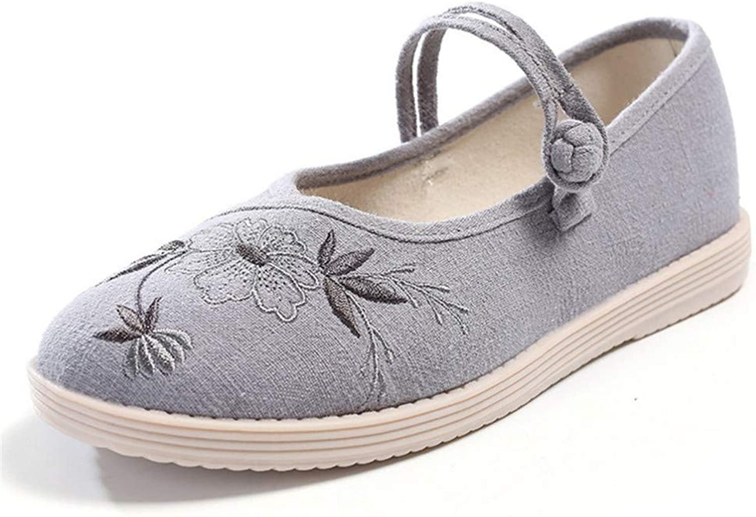 Cloth shoes, Embroidered shoes, Cotton and Hemp Dancing shoes, Women's shoes-YU&Xin