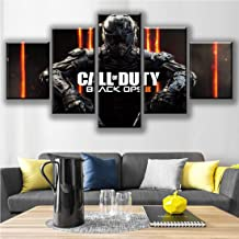 HSART Canvas Painting HD Print Wall Art 5 Pieces Black Ops 4 Call Duty Game Pictures Modular Abstract Poster Living Room Decor,B,40x60x2+40x100x1+40x80x2