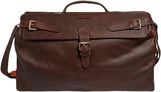 Simon Carter Mens Norfolk Vintage Leather Weekend Bag - Brown