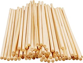 60 PCS 30CM Long Bamboo Dowel Rods Bamboo Craft Sticks