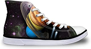 chaqlin Casual High Top Unisex Canvas Shoes Sneaker with Galaxy Printed for Women Mens