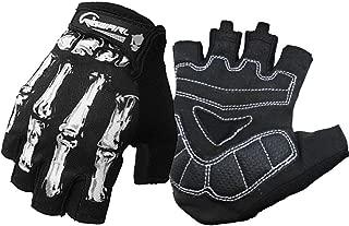 Cycling Gloves for Men Women, Bike Gloves Touchscreen, Motorcycles Riding, MTB, Road Bike Skeleton Bones Gloves