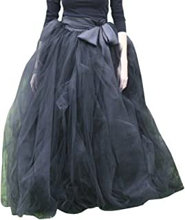 Women's A-Line Tulle Strips Ruffles Tutu Ball Gown Skirts