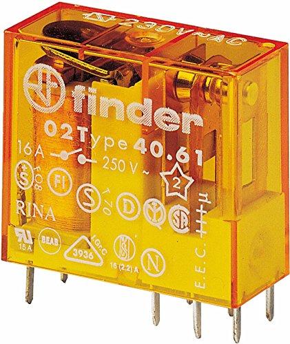 Finder serie 40 - Rele mini reticulado 5mm 1 conmutado 16a 24vac