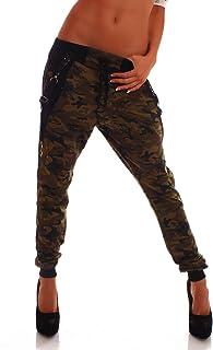 Crazy Age Camouflage Jogginghose Boyfriendhose Bagyyhose mit Hosentäger CA 1119 Cam