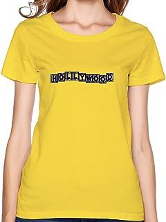 レディースHollywood Tシャツ、イエローTシャツby hgiorgis