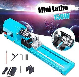PAKASEPT Mini torno de pulir máquina de pulir artesanía de carpintería bricolaje herramienta rotativa universal conjunto,150W Mini máquina de pulido de cuentas de torno