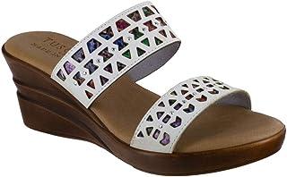 Easy Street womens Sandal,White,9.5 M US