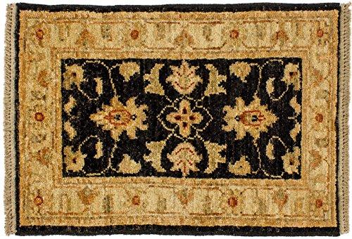 Lifetex.eu Teppich Poshti Ziegler Farahan Pakistan ca. 40 x 60 cm Beige handgeknüpft Schurwolle Klassisch hochwertiger Teppich