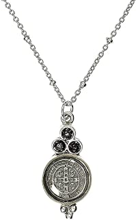 VSA Designs - Virgins Saints and Angels San Benito Lucia Charm in Silver Black Diamond