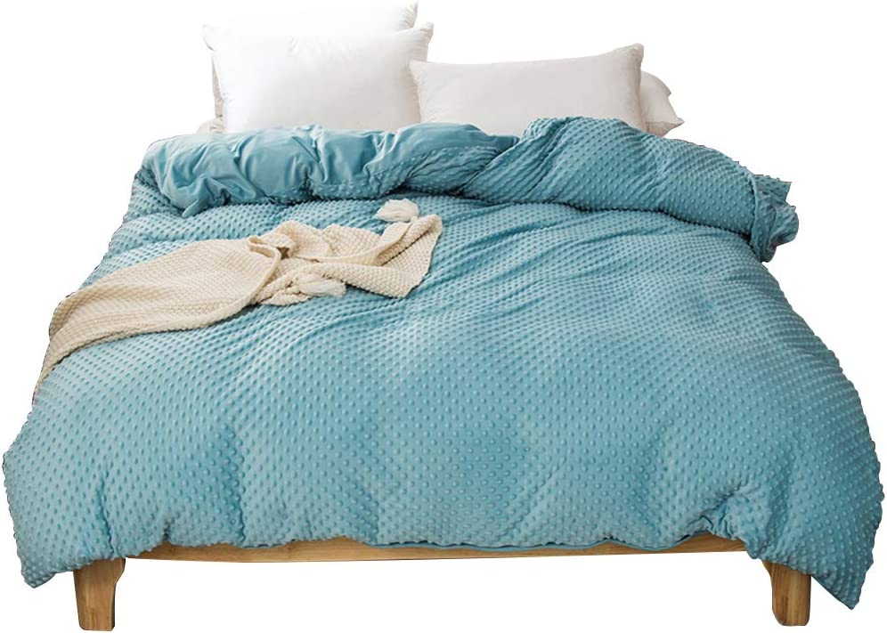 Dobeans Weighted Blanket Duvet Cover Teal Re Super Boston Mall special price 60''x80'' Minky Dot