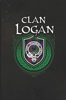 Clan Logan: Scottish Tartan Family Crest - Blank Lined Journal with Soft Matte Cover