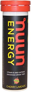 Nuun Hydration Drink Tab - Energy - Cherry Limeade - 10 Tablets - Case of 8