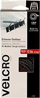 VELCRO Brand - Extreme Outdoor Fasteners - All Weather/Rough Surfaces, 4ft x 1 in Tape, Titanium