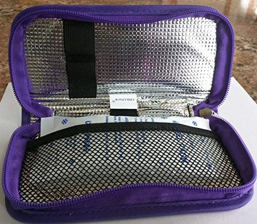 CHILLPACKS Insulin Pen Aluminum foil Insulated Cooler Case Purple product image