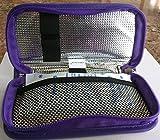 CHILLPACKS Insulin Pen Aluminum foil Insulated Cooler Case-(Purple)