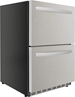 Thor Kitchen 4.7 cu. ft. Under Counter Double Drawer Refrigerator in Stainless Steel Home Appliances HRF2401U