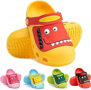 RJVW Kid's Dinosaur Clogs Slippers Girls Boys Toddlers Little Cute Garden Water Shoes Cartoon Slides Sandals Beach Shower ...