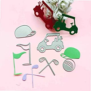 Cutting Dies, Yanvan Cup Teapot Metal Cut Dies for Card Making Stencil Template Mould for DIY Scrapbooking Embossing Album Card Decoration Craft Gift (H)