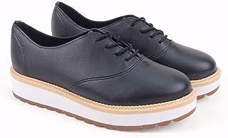 4d2ce30e3 Sapato Feminino Oxford Beira Rio Conforto Napa Turim 4214.104 na cor Preto