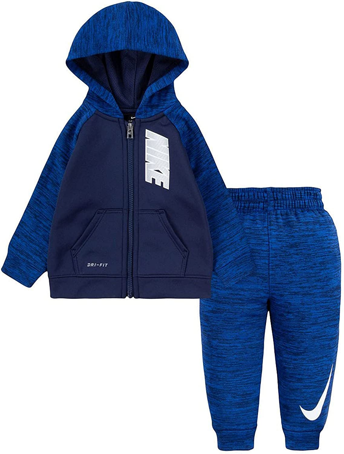 Nike Boy's Therma Pop Zip-Up Hoodie and Pants Two-Piece Set (Little Kids)