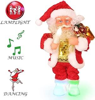 ElementDigital Christmas Santa Musical Doll, Dancing and Singing Xmas Plush Electric Toy Christmas Gift Electric Christmas Doll (Candle Lamp)