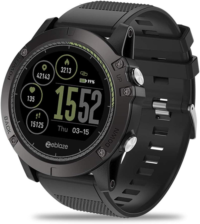 Smart Watch, Active Fitness Tracker, Pedometer für Herren und Damen, Wasserdicht, Globales Netzwerk für Freunde und Freunde, für Android und IOS,schwarz