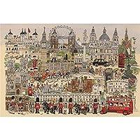 Beni大人の減圧の男の子と女の子のためのジグソーパズル手作りおもちゃ1000個-ロンドン1000錠