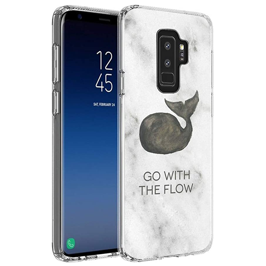 Badalink Phone Case Compatible with Galaxy S9 Plus Case Whale White Marble Whale White Marble Fish Animal Earth Biological