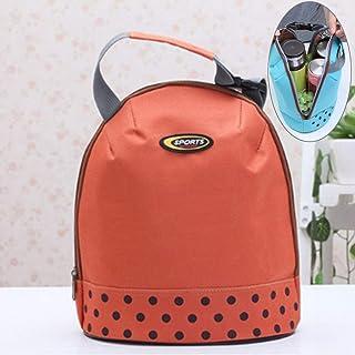 シンプルライフ、ライフアシスタント 良質のポータブルハンドルは絶縁されたランチョンバッグを厚くします、サイズ:26 * 23cm(オレンジ) (色 : オレンジ)