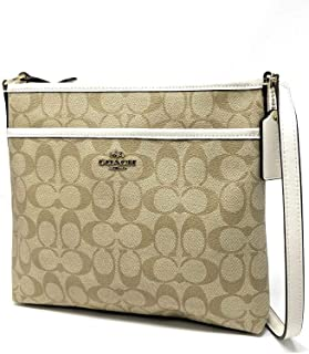 Signature Zip File Crossbody Bag